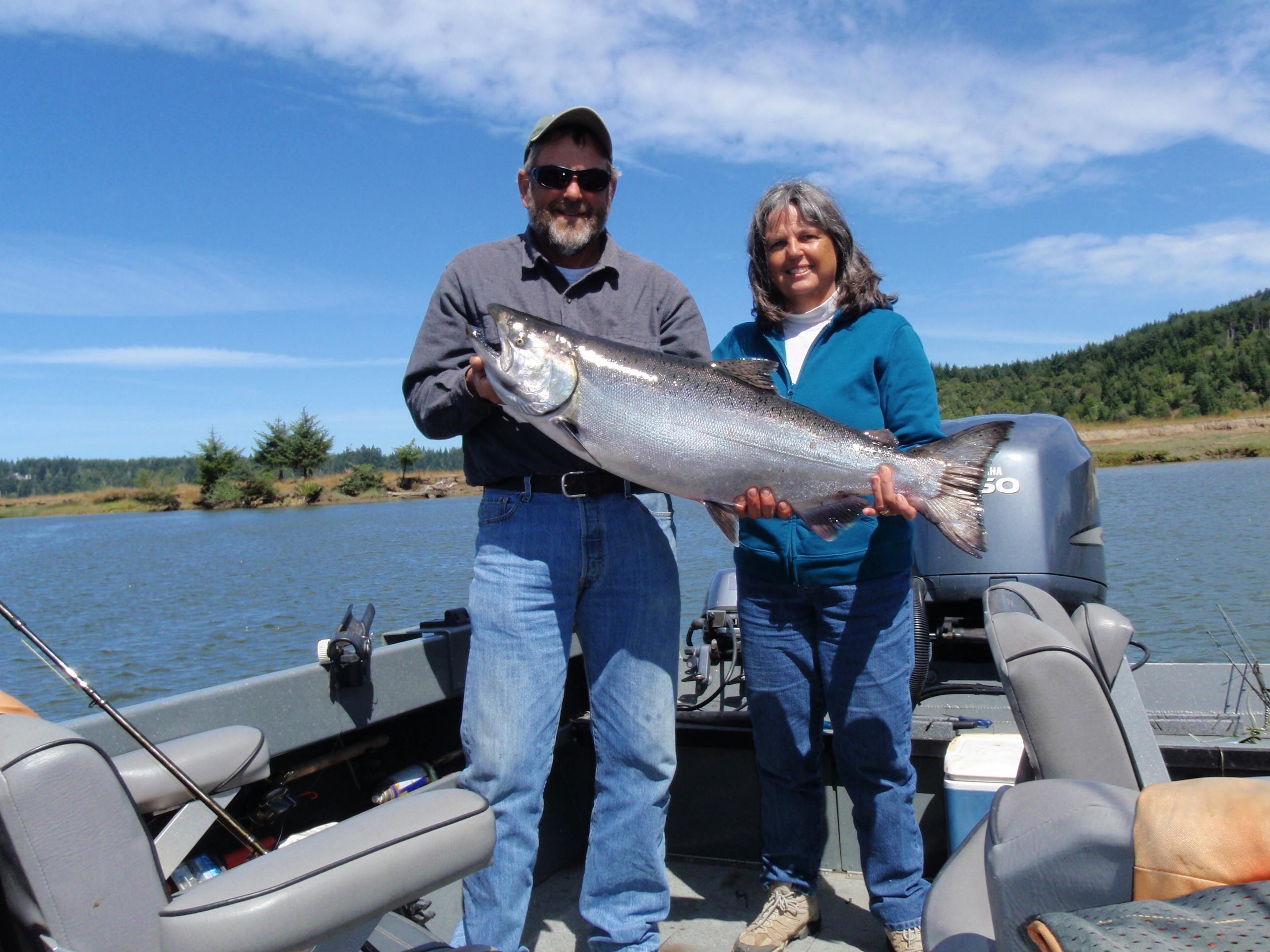 Rick howard guide service early fall salmon fishing on for Oregon salmon fishing